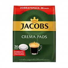 Jacobs - Crema pads, 36x χάρτινες ταμπλέτες καφέ
