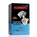 Kimbo Coffee Espresso Decaffeinato - Servings Pads 18 Pieces